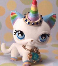 Littlest Pet Shop, Cute , Unicorn, Short Hair  Cat UNIKITTY Ooak Custom, Nice!