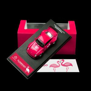 Pre-ordine-del-tempo-modello-1-64-PORSCHE-993-RWB-Diecast-Auto-Modello-FLAMINGO-Edition
