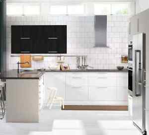 Details About Ikea Abstrakt White Cabinet Doors Or Drawer Faces Or Panels