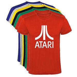 Camiseta-Atari-logo-videoconsola-colores-Hombre-varias-tallas-y-colores-a002