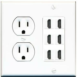 Miraculous 15 Amp Round Power Outlet 6 Port Hdmi A V Wall Plate Hide Cables Wiring Database Ilarigelartorg