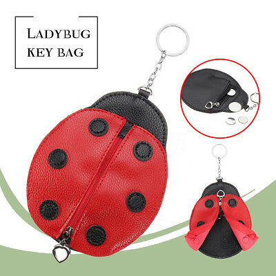 Creative Ladybug Coin Purse Wallet Bag Change Pouch Key Card Holder Ring Chain
