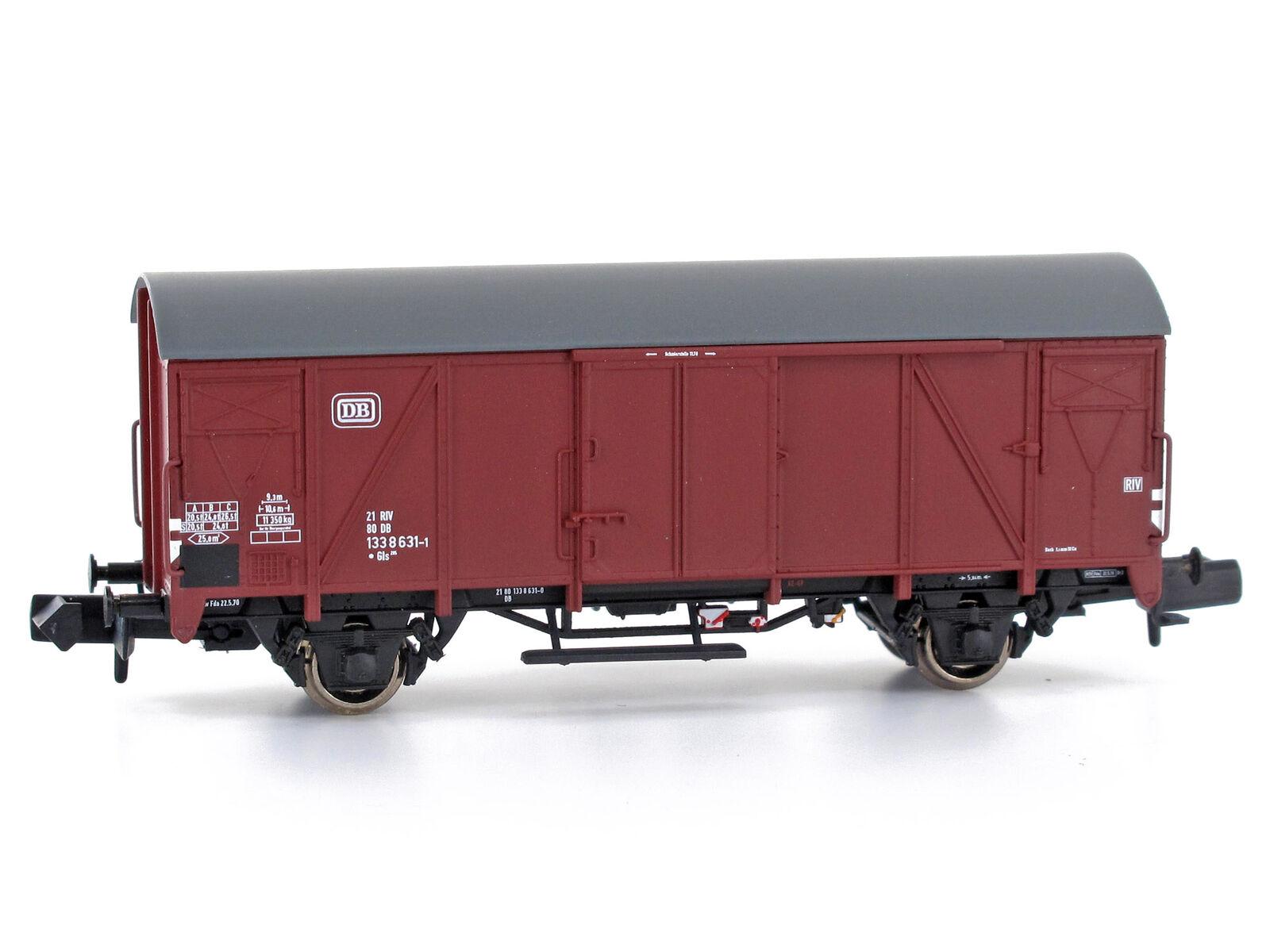 MU N-G54104 - Güterwagen Gms 54 Gls 205 DB Epoche IV - Spur N - NEU