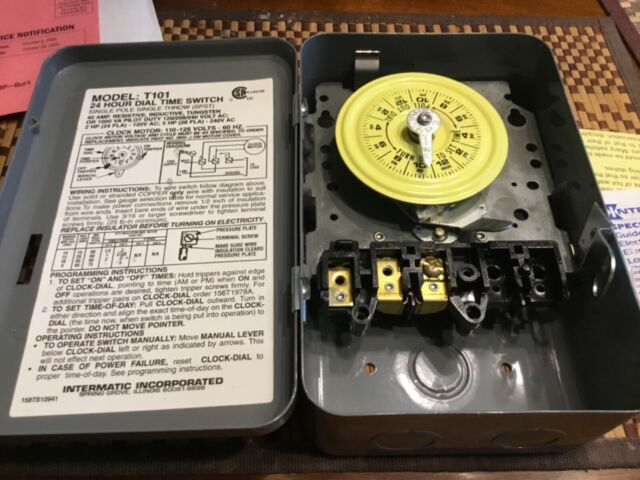 Intermatic T101 24 Hour Mechanical Time Switch - 120V