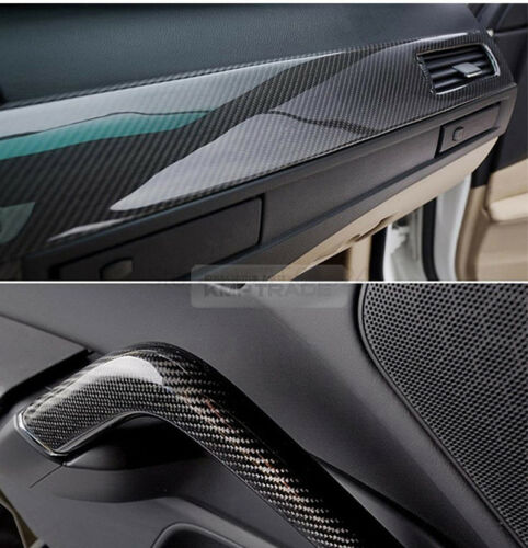 "11.9/""x60/"" Ultra Shiny High Glossy 5D Carbon Black Wrap Film Decal for PONTIAC"