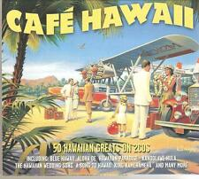 CAFE HAWAII - 50 HAWAIIAN GREATS - 2 CD BOX SET - BLUE HAWAII & MORE