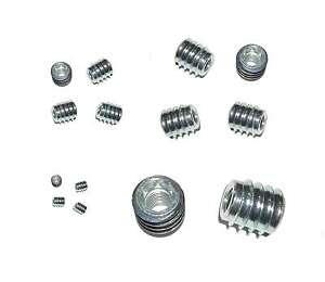 Holz-EINSCHRAUBMUTTER-M4-M5-M6-M8-M10-M12-Stahl-verz-Gewindemuffen-Rampamuffen