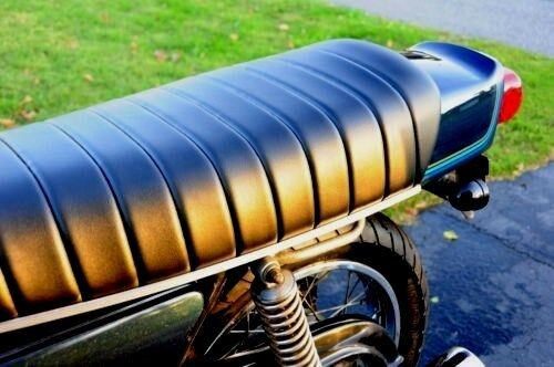 SUZUKI GS750 GS550 1977-1979 Custom Hand Made Black Motorcycle Seat Cover