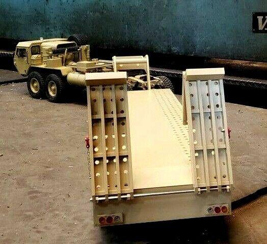 3-axle 1 12 Remolque semi de aluminio grande para HG P801 Cross-radio control BC8 Nuevo En Caja