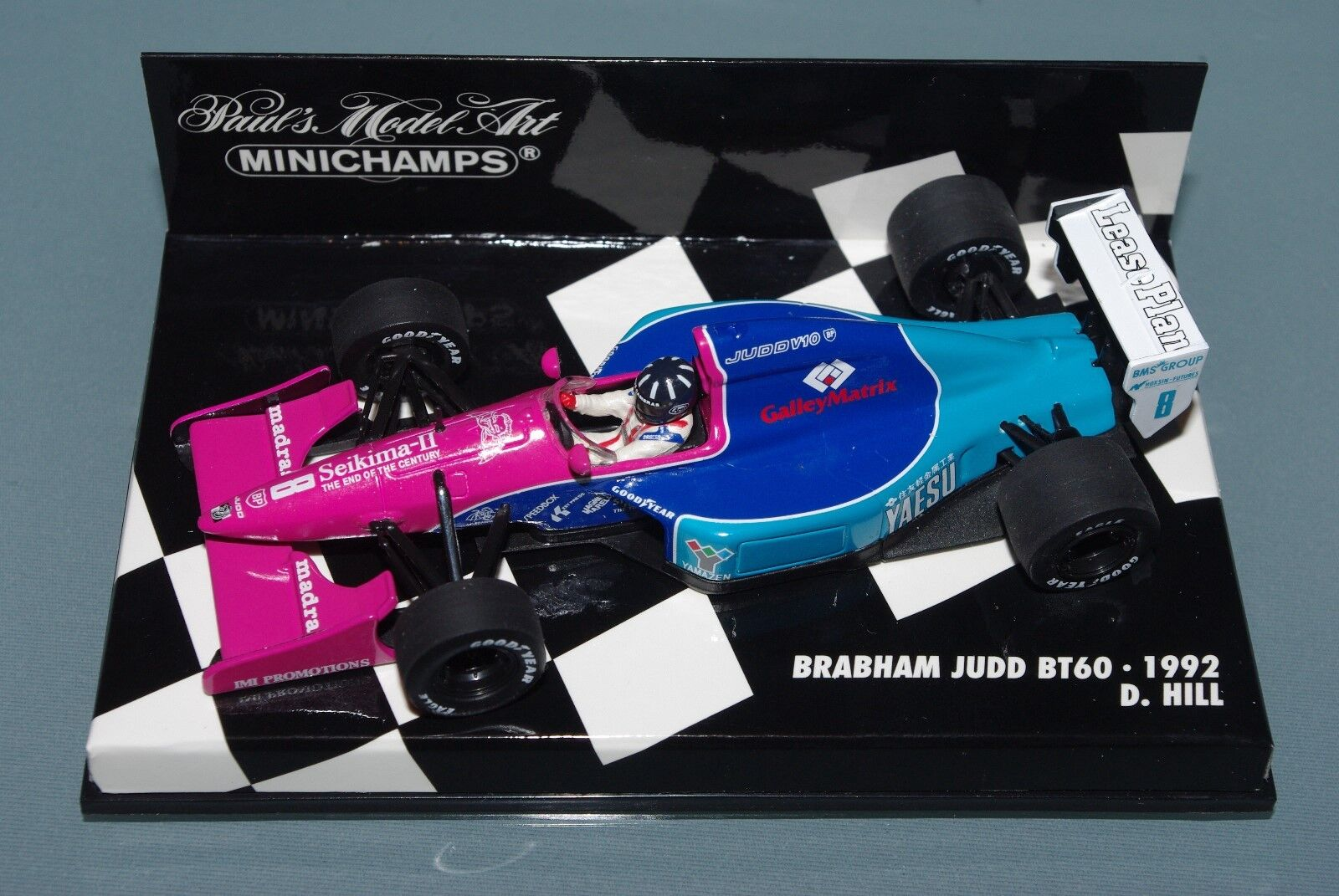 Minichamps 1 43 F1 BRABHAM JUDD BT60 Damon Hill 1992