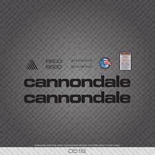 0518 Black Cannondale R500 Bicicletta Adesivi-Decalcomanie-Transfers