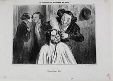 Honore Daumier (France 1808-1879) Lithograph Initialed H.D. Un Coup de Feu!