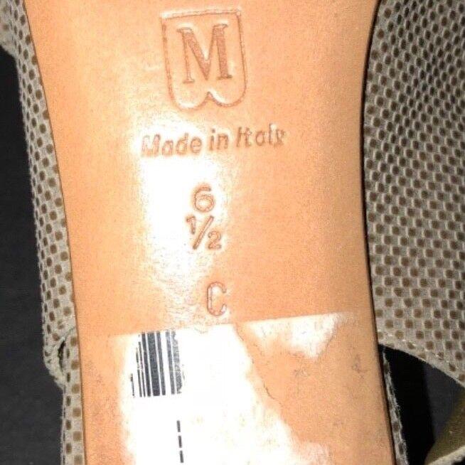 BRUNO MAGLI ITALY OPEN TOE TOE TOE SLINGBACK BEIGE/SUEDE HEELED SANDALS - 6.5C 6ef427
