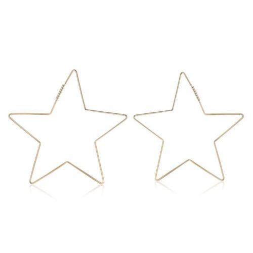 """Null Karat 1 Paar Creolen /""""Stern/"""" Sterne star schmuckrausch"""