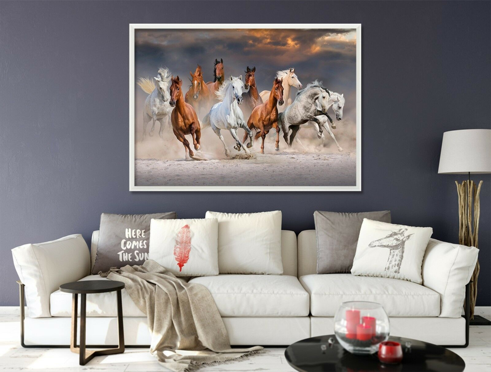 3D Land Horse 674 Fake Framed Poster Home Decor Print Painting Unique Art Summer