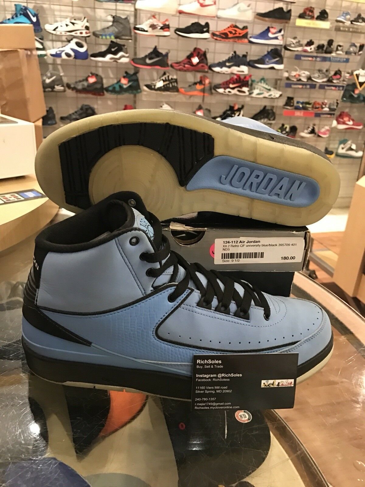 Nike Air Jordan II 2 Retro QF University Blue/Black-White '10 395709-401 SZ 9.5
