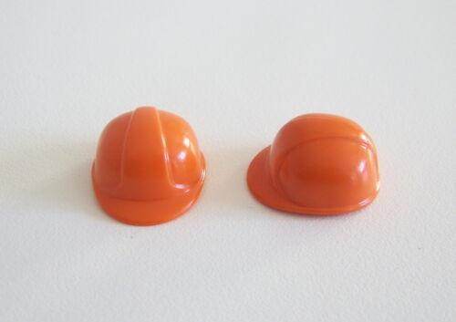 Lot de 2 Chapeaux Adulte Casques Orange Chantier PLAYMOBIL 0363