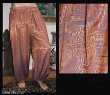 Harem Pants Belly Dance Orange Purple Sparkle