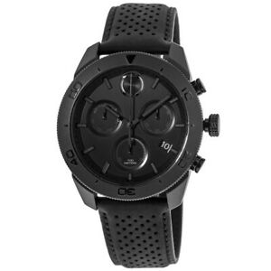 New-Movado-Bold-Chronograph-Black-Dial-Leather-Strap-Men-039-s-Watch-3600517