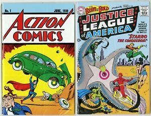 Action-Comics-1-Brave-and-Bold-28-Loot-Crate-Set-1ST-SUPERMAN-JLA-REPRINTS