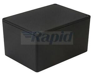 Details about Hammond 1550KBK IP54 Diecast Aluminium Enclosure Black (140 x  102 x 77mm)