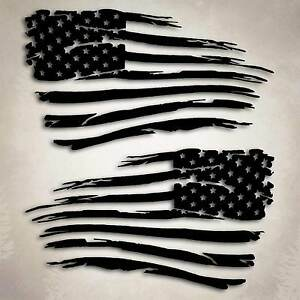 American Flag Distressed Decal Sticker Compatible With