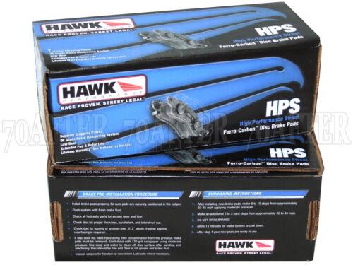 for 10-16 Chevy Camaro 3.6 LS LT Front /& Rear Set Hawk Street HPS Brake Pads