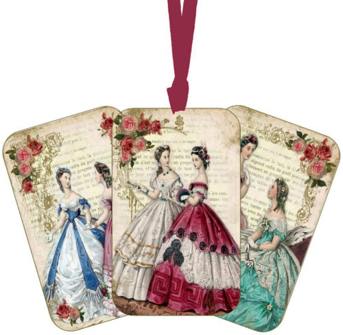 Vintage Jane Austen gift tags scrapbooking crafts set 8 with or without ribbon