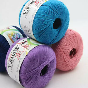 Sale-50g-Cobweb-linen-lace-Yarn-making-Baby-cotton-Knitting-wool-Crochet-woven