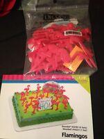 Decopac Flamingos Cake Topper Decorating Kit Birthday Trailer Pink Flamingos