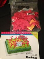 Decopac Flamingos Cake Topper Decorating Kit Birthday Trailer Pink Flamingos