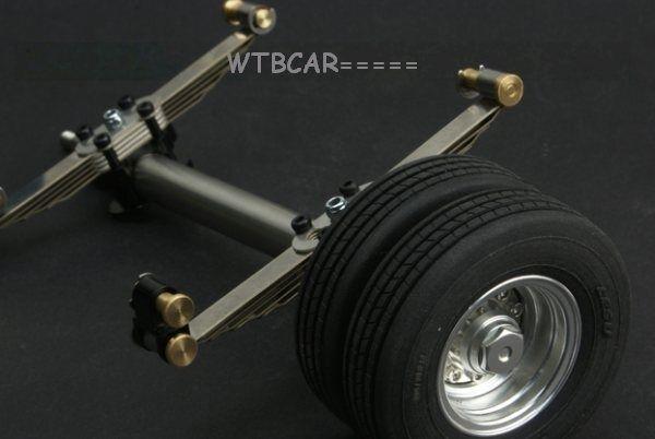 1 14 Eje de Metal, ruedas con neumáticos de goma juego para 1 14 TAMIYA Camión Remolque