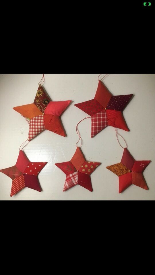 Nye kunst håndværk stjerner julepynt