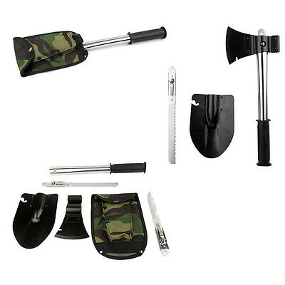Ultimate Survival Emergency Camping Hiking Knife Shovel Axe Saw HAMMER Kit Tools