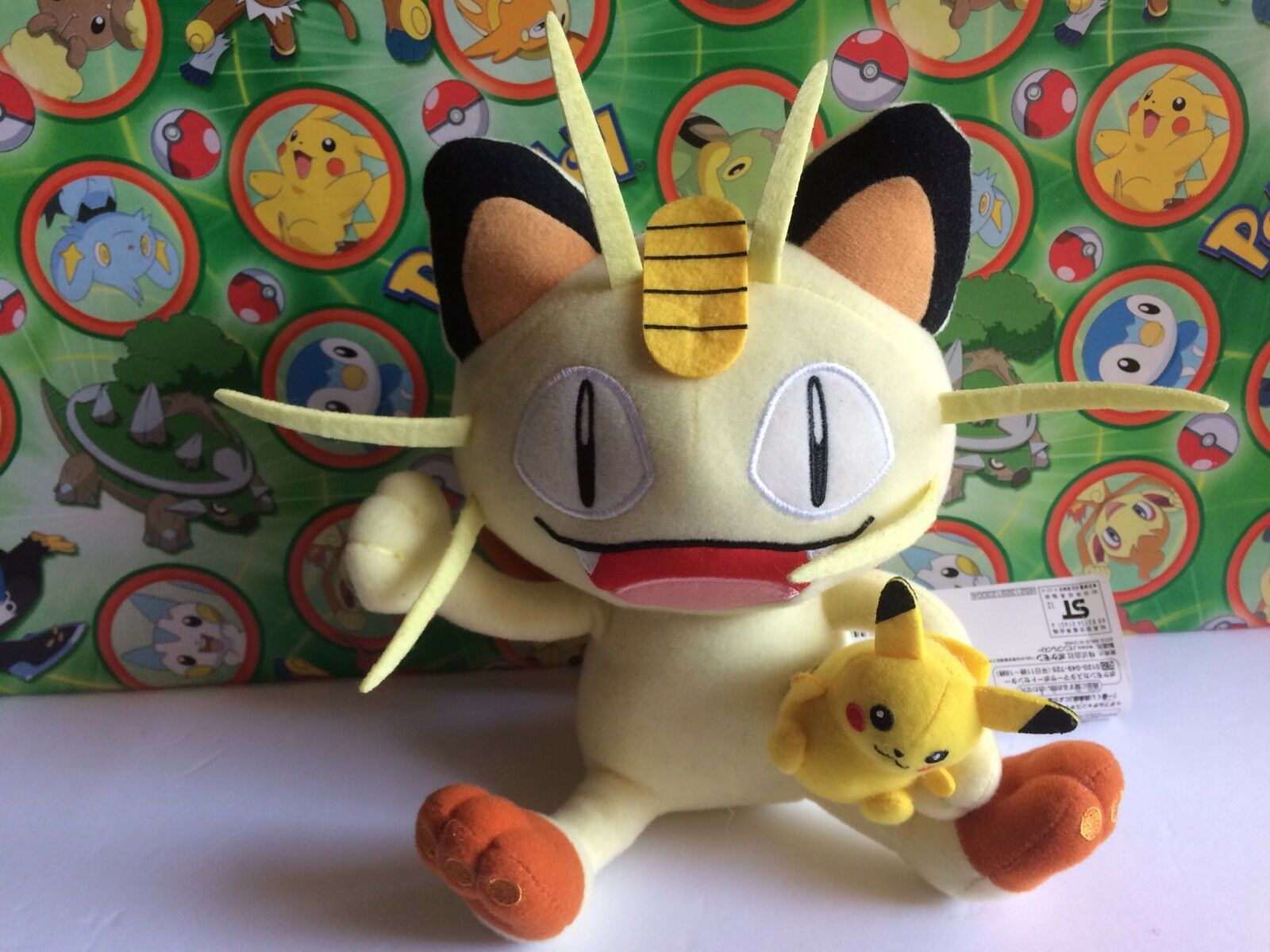 Pokemon Pokemon Pokemon Center Plush Pikachu Meowth 2012 Pokedoll 8  Stuffed animal figure New a051d8