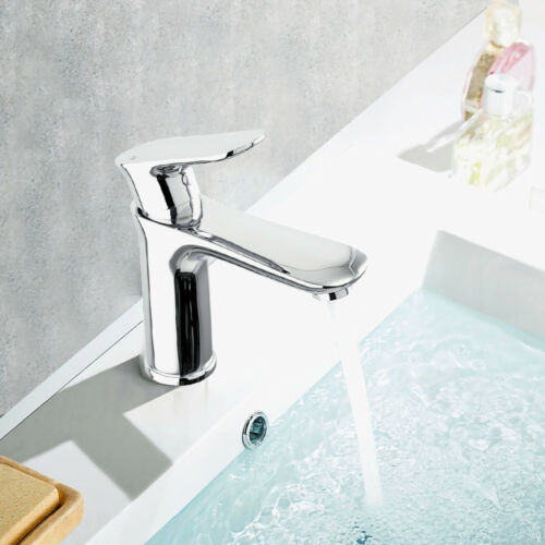 Waterfall Single Handle One Hole Commercial Bathroom Sink Faucet Chrome Lavatory