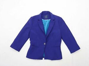 Zara-Damen-Groesse-M-blau-Jacke