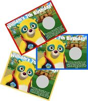 Special Agent Oso Personlized Scratch Off Offs Party Game Cards Birthday Favors