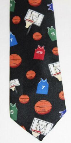 PARQUET Black Basketball Theme Men's Novelty Tie B