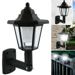 Solar-Power-LED-Path-Way-Wall-Landscape-Mount-Garden-Fence-Lamp-Outdoor-Light