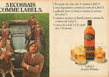 Publicité  Advertising 1982  (double page)  WHISKY LABEL 5