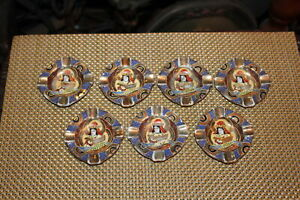 Lot-Vintage-Japan-Royal-Satsuma-Moriage-Ashtrays-Jewelry-Holders-7-Pieces