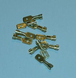 Steckverbinder abgewinkelt Flachsteckhülsen vollisoliert 6,3x0,8mm 1,5-2,5mm 100