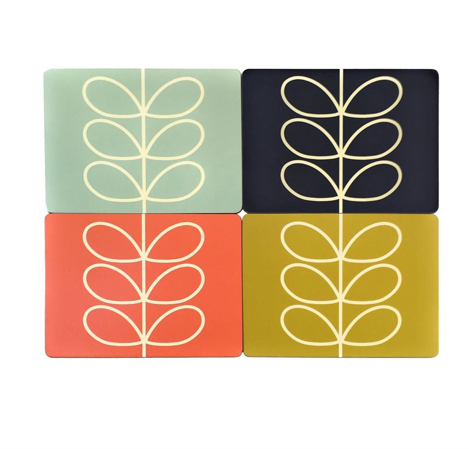Licence Official Orla Kiely Tige Linéaire Feuille Set de Table