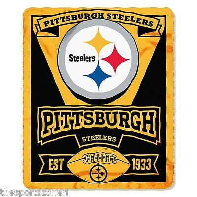 """Pittsburgh Steelers 50"""" x 60"""" Fleece Blanket"""