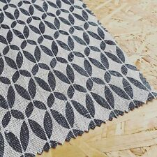 Designer scandinavi tessuto residuo offcut naturale biancheria Grigio Motivo Geometrico