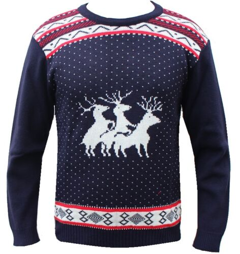 NEW MENS LADIES FUNNY JUMPER RUDE CHRISTMAS XMAS LADIES SANTA SNOWMAN SWEATER