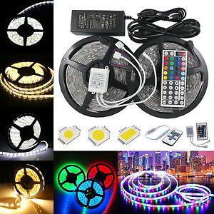 1M-10M-SMD-3528-5050-5630-LED-Strip-Band-Leiste-Streifen-Lichter-Netzteil-300LED
