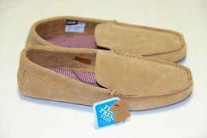 Clarks-Kite-Kindling-Tan-Suede-men-039-s-slippers-sizes-6-12-G