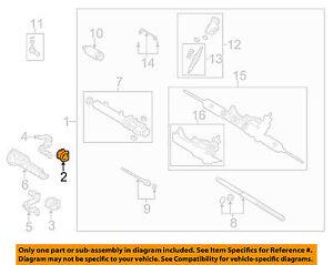 image is loading toyota-oem-corolla-steering-gear-gear-assembly-mount-